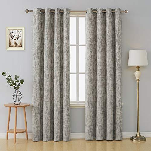 Deconovo tende camera da letto termiche isoalnti con occhielli tende classiche decorative per casa moderne 2 pannelli 140x290cm giallo
