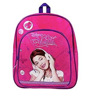 Disney Violetta - Escucha To Love Mochila con Bolsillo Delantero, 31 x 25 x 9 cm