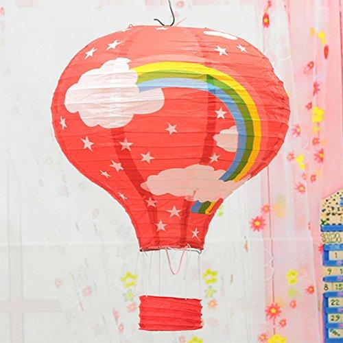 230,5cm Hot Air Rainbow Ballon Laternen Papier Ballon Party Supply