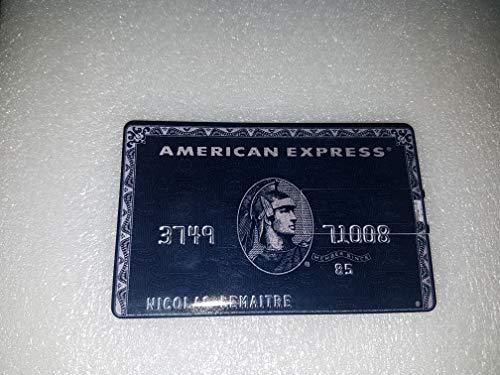 Pen drive credit card chiavetta usb carta di credito 8gb 16gb 32gb 64gb penna memory usb2.0 (amex black, 32gb)