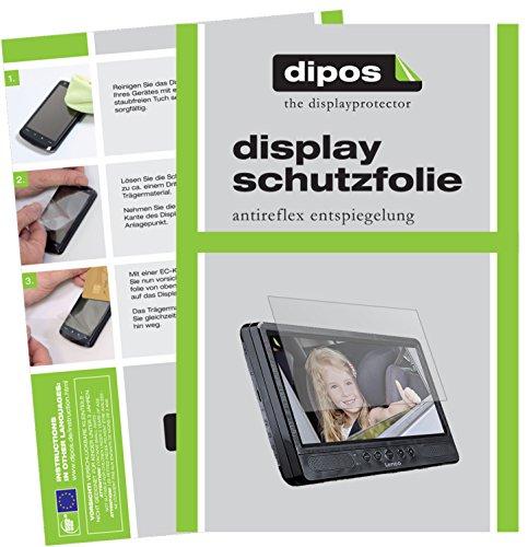 dipos I 3X Schutzfolie matt passend für Lenco DVP-1045 Folie Displayschutzfolie