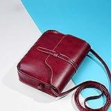 Women Shoulder Bag, Rcool Women Girl Vintage Purse Bag Leather Cross Body Bags Shoulder Messenger Bag Satchels (Red)
