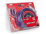 Caliber CPK20M Kabel-Kit für Verstärker bis 600W Rot
