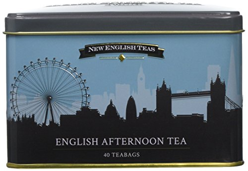 New English Teas London Skyline Tin Afternoon Teabags, 40-Count