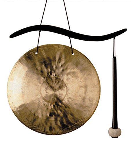 Woodstock Windspiel Hanging Gong, Gold, 44,5/25,4 cm