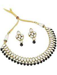 Party Wear Stylish Kundan Collection Jewellery Traditional Necklace Set For Women By Shining Diva