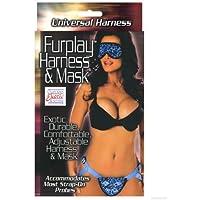 furplay Harness and Mask–Blue Leopard (Bondage la)