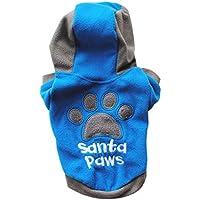 Ropa Para mascotas Amlaiworld Invierno casuales ropa abrigo chaqueta caliente para perros mascotas Ropa Perritos chaleco de perros (Azul, M)