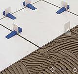 Nivofix Profi Nivelliersystem mit 100 Laschen, 100 Keile und 1 Zange zum Verlegen von Fliesen