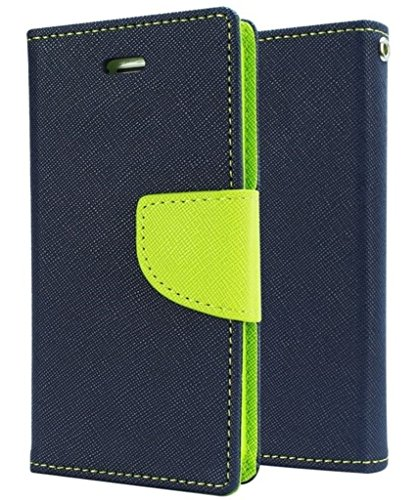 REYTAIL Stylish Blue Wallet Diary Synthetic Leather Flip Cover & Case for Samsung Galaxy Trend Duos SM-S7392  available at amazon for Rs.197