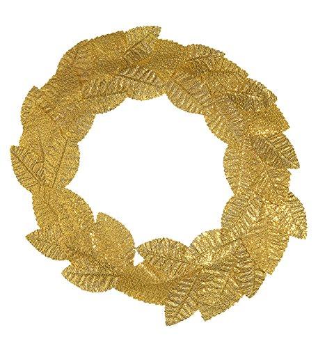 Lorbeerkranz, gold, Römer, Karneval, Mottoparty, Accessoire, Cesar, - Niedliche Göttin Kostüm
