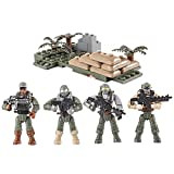 BOROK Mini Figuren Set SWAT Team Armee Soldaten Minifiguren Bausteine für Kinder
