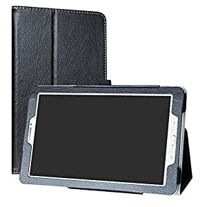 """Samsung Galaxy Tab E 9.6 Case,Mama Mouth PU Leather Folio 2-folding Stand Cover with Stylus Holder for 9.6"""" Samsung Galaxy Tab E 9.6 T560 T561 Android Tablet,Black"""