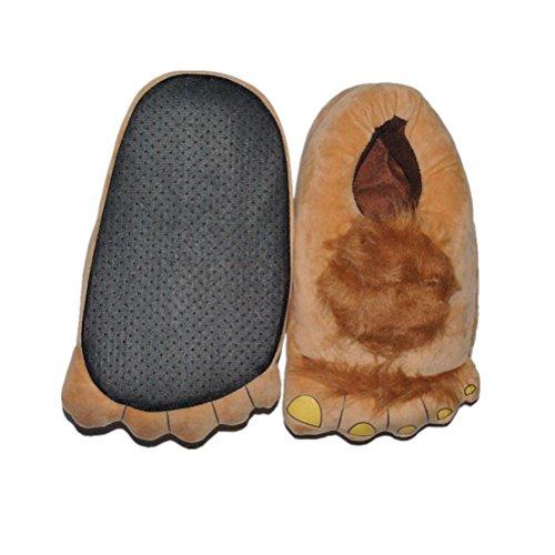 Vogstyle Plüsch-Hausschuhe Pyjamas Tier Onesie Body Nachtwäsche Kleid Overall Animal Sleepwear Erwachsene Art 2 Braun