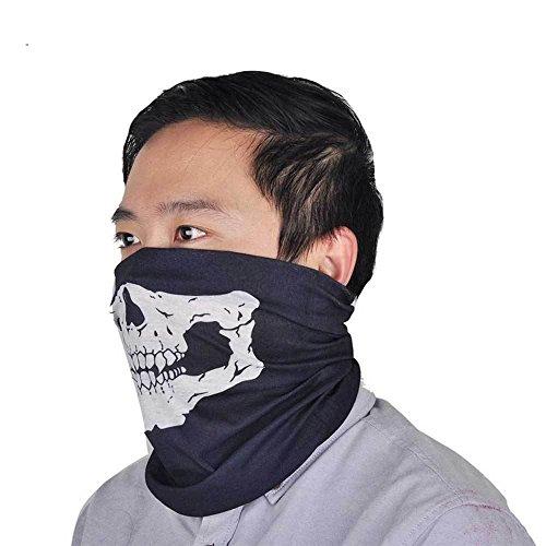 Maske Schal halbe Gesicht Halloween Totenkopf Karneval Schutz Hals Gesicht