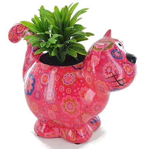 POMME-PIDOU Bloomies Dorothy The Cat Blumentopf aus Keramik, Keramik, Rose