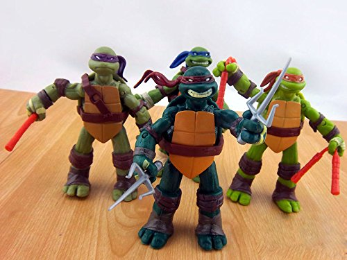 Ninja-Schildkröten /Teenage Mutant Ninja Turtles 12 CM - 4x Action-Figuren (Schildkröten Ninja Turtle)