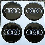 55 mm nero tuning effetto 3d 3m resinato coprimozzi borchie caps adesivi stickers per cerchi in lega x 4 pezzi