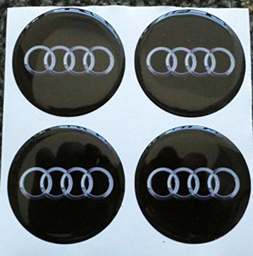3M Radnabenkappen, 55mm, 3D-Tuning-Effekt, geharzt, Nieten, Sticker, Aufkleber für Leichtmetallfelgen, 4Stück