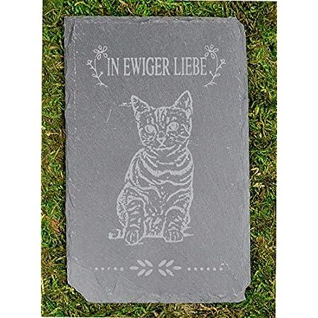 Möbelbörse Tiergrabstein Grabstein Trauerstein Tiergrabstein Gedenkstein Naturstein Schiefer Katze