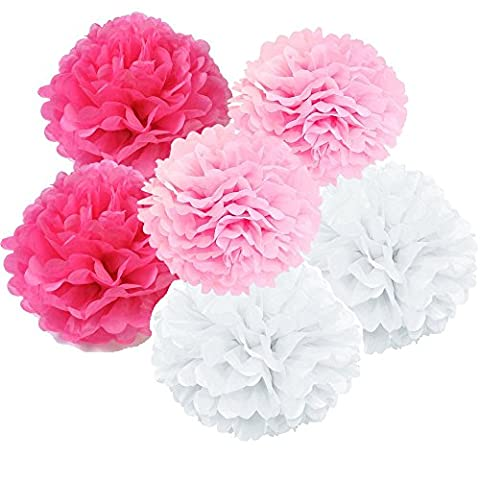 Daily Mall 18Pcs 20CM 25CM DIY Pom Poms Crafts Tissue