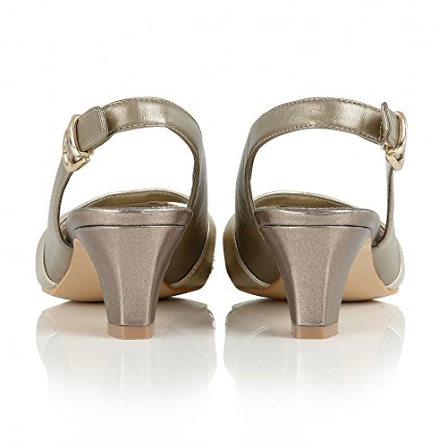 Lotus 50627 Valeria Women's Sling-Back Sandal in Gold or Navy Gold & Metallic
