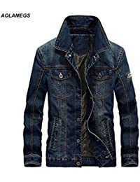 d54470b5626 World2home Aolamegs New Men s Denim Jackets Coat Large Size Casual Male  chaqueta Spring Autumn Long Sleeve