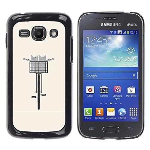 WonderWall Carta Da Parati Immagine Custodia Rigida Protezione Cover Case Per Samsung Galaxy Ace 3 (Pesche Vita Bassa Dei Pantaloni)