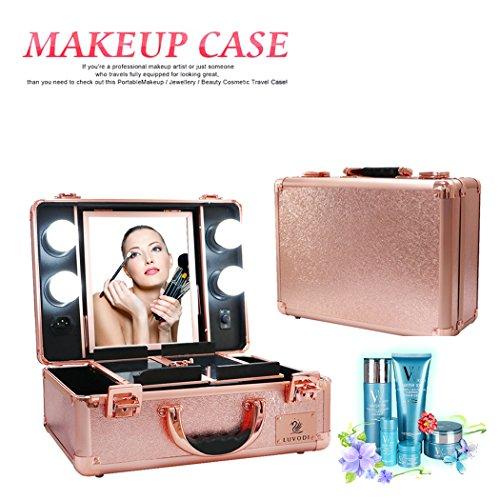 1305a5f8e LUVODI® Maleta Profesional de Maquillajes, Maletín de Cosméticos, Estuche  de Maquillajes Profesional,