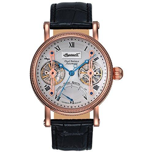 Ingersoll Herren Analog Automatik Uhr mit Leder Armband IN3109RSL