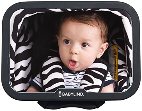Espejo Retrovisor Bebé para Coche BABYLIND | Vigila al Bebé en el Asiento Trasero con Visión Amplia, Nítida y Sin Vibraciones | Perfecto Agarre con Cintas y Rótula Rotación para Observar 360º