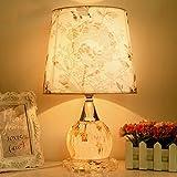 LILY Pastoral Nachttisch Lampe Home Kreative Mosaik Schlafzimmer Nacht Licht Hochzeit Geschenk Glas Dekorative Tischlampe E27