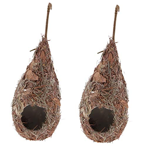 F fityle 8 pezzi nido di casette per uccelli artificiali casette per uccelli da appendere su alberi, grondaie, muri di ville, attrarre uccelli nei nidi - 2 pezzi