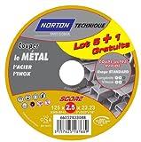 Norton score 5 1 Gratis Schleifsteine 100 125 x 2,5 x 22 mm