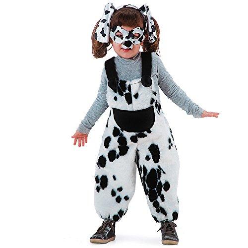 Carnival Toys 60054 - Dalmatiner, Kinderkostüm mit Maske und Haarreif, 3 Jahre
