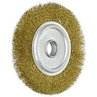 Sourcingmap–® 100mm de diámetro 5/8Inch Arbor ondulado alambre de cobre cepillo de rueda de molienda