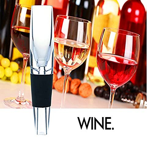 KooKen Acrylique rapide Decanter aérateur de vin verseur pour Whiskey Red Wine