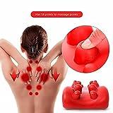 Nacken- Und Schultermassage Traction Pillow Und Pain Relief Stützkissen/Memory Schwamm Kopf Und Nacken Tension Release Pillow Relaxation Device