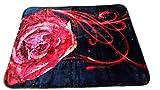 YSN Home Collection 2268- Wolldecke Decke Kuscheldecke Tagesdecke - Blumen Schwarz Rot Single 160 x 200 cm superweich MUTTERTAG GESCHENK