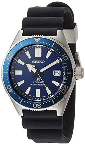 Seiko Reloj de hombre automático correa de goma caja de acero SBDC053