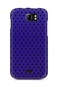 AMEZ Pattern Purple Back Cover For Micromax Canvas 2 A110