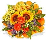 """Blumenstrauß Blumenversand Sonnenblumen """"Für Dich"""" +Gratis Grußkarte+Wunschtermin+Frischhaltemittel+Geschenkverpackung"""