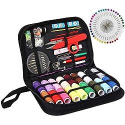 Kit de costura XL, suministros de costura para bricolaje, principiantes, emergencias, niños, camperes de verano, viajes y hogar