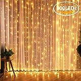 KASTEWILL LED Lichtervorhang, 300 LEDs 8 Modi 3M*3m IP44 wasserfest Sternen Lichterkettenvorhang für Weihnachten Garten Deko Party Festen Hochzeit Zimmer