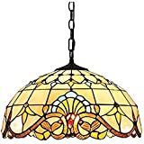 E27 Tiffany Lampada a sospensione Vintage Glass lampadari Altezza regolabile Tavolo da pranzo Sala da pranzo Cucina Retro Ill