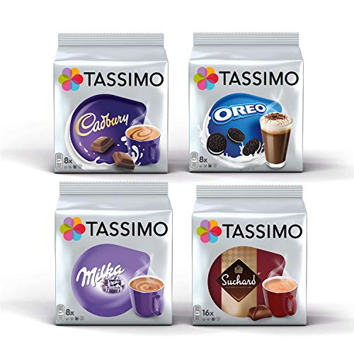 Tassimo Hot Choco Bundle - Cadbury, Oreo, Milka, Suchard Schoten - 4er Pack (40 Portionen)