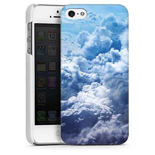 Apple iPhone 5s Housse Étui Protection Coque Nuages Ciel Paysage CasDur blanc