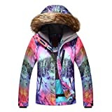 Meijunter Frauen Wintersport Hoodies Skianzug Wasserdichte Snowboard Jacken Reise Mantel