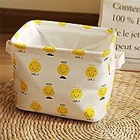 Preisvergleich für Yiuswoy Spielzeug Aufbewahrung Baumwolle Aufbewahrungskörben Faltbar Aufbewahrungsbox Kinderzimmer Aufbewahrungskiste - Lächeln