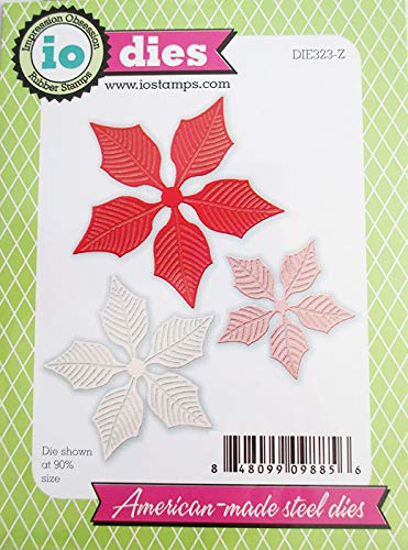 Large Poinsettia Set Steel Die for Scrapbooking (DIE323Z) by Impression Obsession
